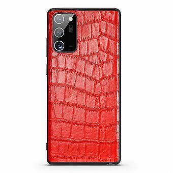 Para Samsung Galaxy Note 20 Ultra Case Couro Crocodilo Textura Capa Vermelha