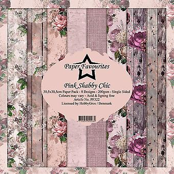 Dixi Craft Pink Shabby Chic 12x12 Inch Paper Pack