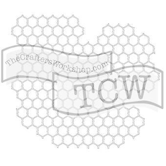 The Crafter's Workshop Chicken Wire 6x6 Inch Stencil
