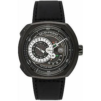 Sevenfriday Q-Series Q3/01 Black Leather Automatic Men's Watch