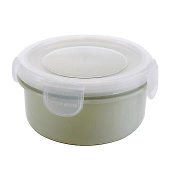 Mini PP silikónová okrúhla chladnička úložná skrinka zelená 10x5.5CM