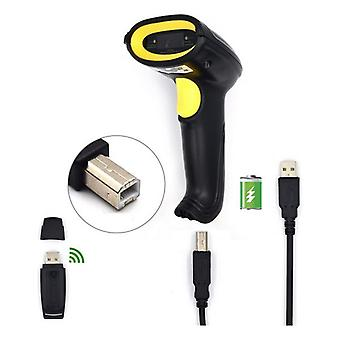 Barcode Reader with Support Ewent EW3430 LED USB Black