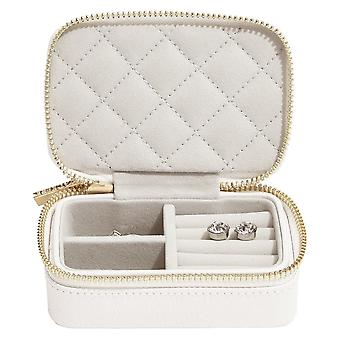 Stackers Orchid White Leather Travel Jewellery Box