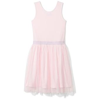 Brand - Spotted Zebra Big Girls' Tutu Tank Dress, Pink, Large (10)