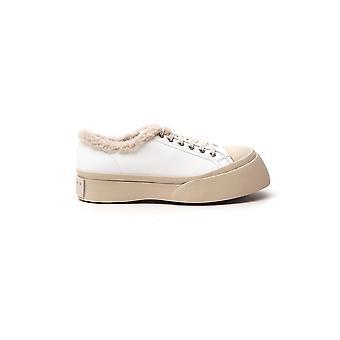 Marni Snzw007320p272200w01 Dames's Witte Leren Sneakers