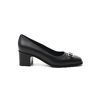 Salvatore Ferragamo 01r378732948 Dames's Black Leather Pumps