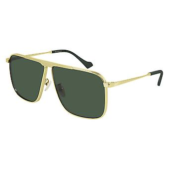 Gucci GG0840S 002 Gold/Green Sunglasses