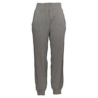 Anybody Women's Pants Cozy Knit Ribbed Jogger Pants Gray A365608