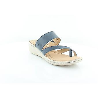 Born Womens Siene Leather Split Toe Casual Slide Sandals