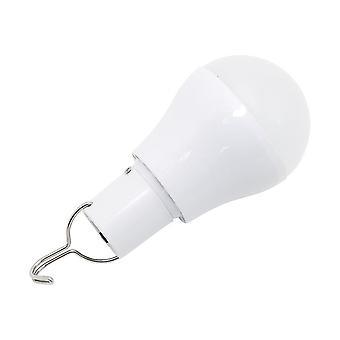Portabil Led Solar Lamp Taxat solar de energie bec bec pentru gradina in aer liber Camping (alb)
