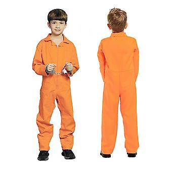 Unisex Children Jailed Prisoner Cosplay Kids Fancy Dress Costume