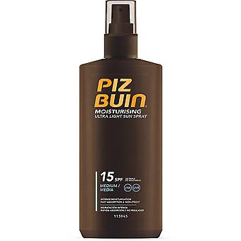 2 x Piz Buin Moisturising Ultra Light Sun Spray SPF15 - 200ml