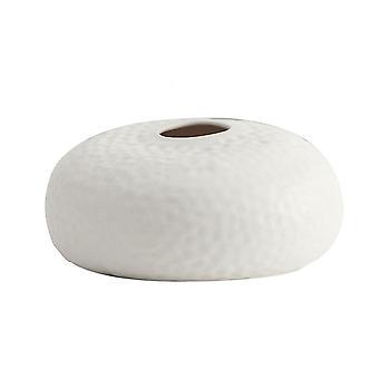 Eenvoudige moderne keramische vaas decoratie voor thuis (klein-wit)
