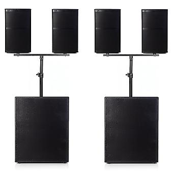 """Big gig rig 25 - passive 3200w rms 10"""" tops and 18"""" subwoofer pa system"""