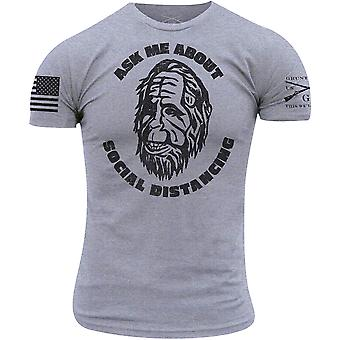 Stile Grunt Chiedimi su Social Distancing T-Shirt - Heather Gray