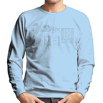MG Schematic British Motor Heritage Men's Sweatshirt