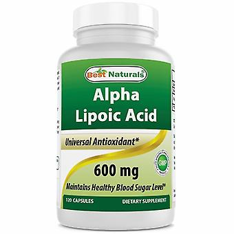 Best Naturals Alpha Lipoic Acid, 600 mg, 120 Caps