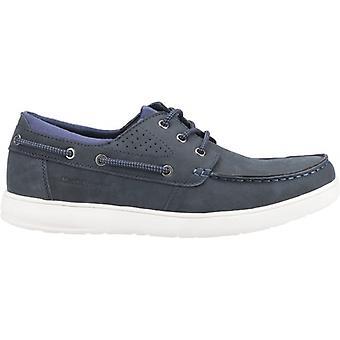 Hush Puppies Liam Mens Nubuck Boat Shoes Navy