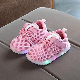 Led Luminous Sneakers Light Up Shoes For Toddler Baby Boys Girls/ Kids