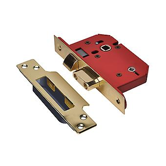 "UNION StrongBOLT 22WCS Mortice Bathroom Lock Polished Brass 81mm 3"" Visi"