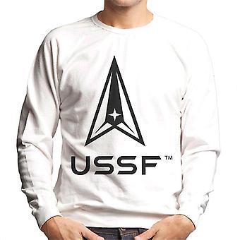 U.S. Space Force Light Logo USSF Dark Text Men's Sweatshirt