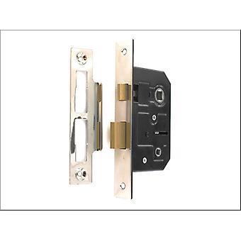 Securit Bathroom Lock Nickel Plated 63mm S1836