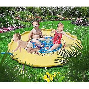Outdoor, Lawn, Beach, Sea, Inflatable Water Sprinkler Play Mat Tub