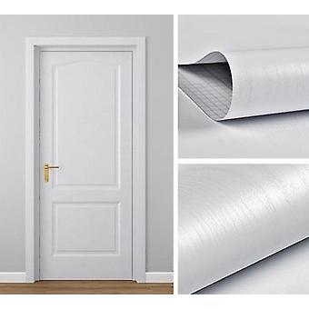 Modern Waterproof Wood Grain Door Sticker Adhesive Wallpaper - Wooden Door
