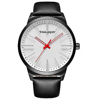 GUANQIN GS19073 Design Simples Cinta de Couro Casual Homens Relógio de Pulso quartzo
