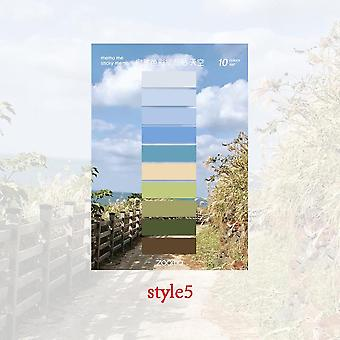 Natural Color Markers, Index Tags Divider Sticky Notes, Memo Tags