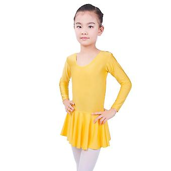 Long Sleeved Spandex Gymnastics Leotard Swimsuit Ballet Dancing Dress Grils