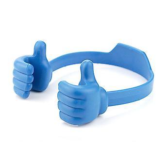 Daumenhalter Universal Flexible süße Smartphone Tablet Halter - blau