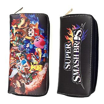 PU leather Coin Purse Cartoon anime wallet - Super Smash Bros #101