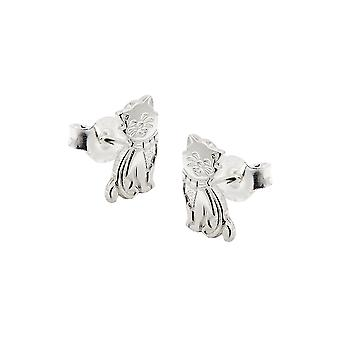 Pendientes Cat Glossy Silver 925
