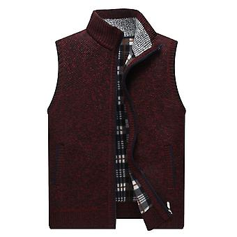 Men's Sweater Vest Fashion Japan Style Streetwear Sleeveless Vest Sweater Coat