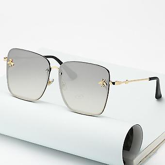 أزياء جديدة سيدة كبيرة الحجم ريمليس مربع النحلة النظارات الشمسية النساء الرجال النحلة الصغيرة