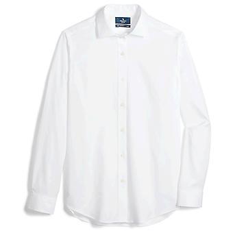 ボタンダウンメン&アポス;sテーラードフィットスプレッドカラーソリッドノンアイアンドレスシャツ(No..