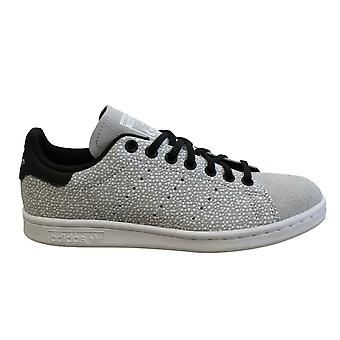 Adidas Originals Stan Smiths Juniors Trainers Grey Leather Lace Up Shoes DB2870