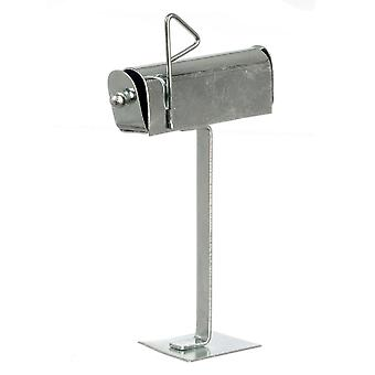 Puppen Haus Aluminium Mailbox Post Post Box Miniatur 01:12 Garten Zubehör
