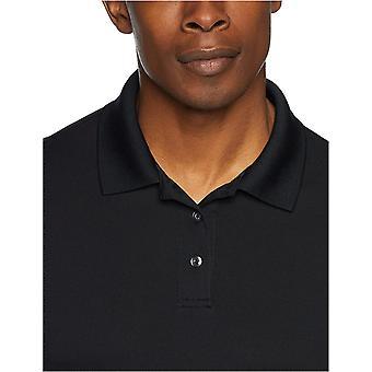 Essentials Men's Slim-Fit Quick-Dry Golf Polo Shirt, Black, X-Large