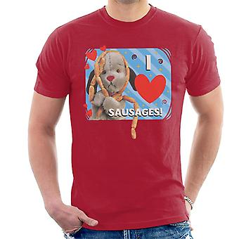 Sooty Sweep I Love Sausages Men's T-Shirt