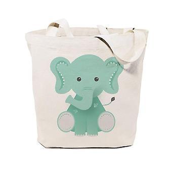 Elefantti puuvilla kangas tote laukku