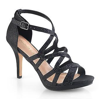 Fabulicious Frauen's Schuhe DAPHNE-42 Blk schimmernden Stoff