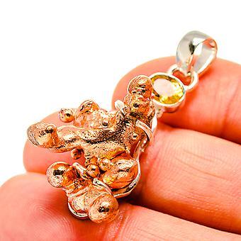 سبلاش النحاس، سيترين قلادة 1 3/4 & quot; (925 الفضة الاسترليني) - اليدوية المصنوعة من مجوهرات بوهو خمر PD751136