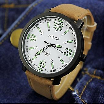 Big Dial Waterproof Luminous Quartz Wristwatch Sports Watch
