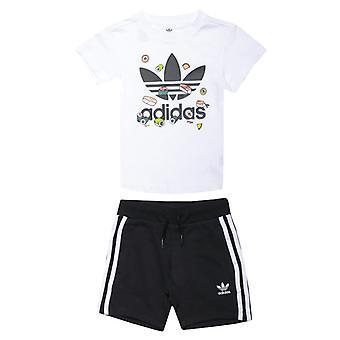 Boy's adidas Originals Infants Short Set in White