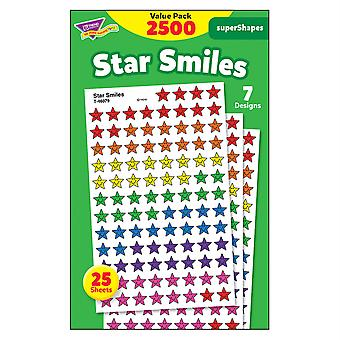 Star Smiles Supershapes Stickers Value Pack, 2500 Ct