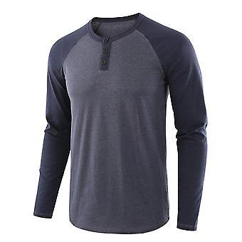 Heren's Stitching T-shirt met lange mouwen
