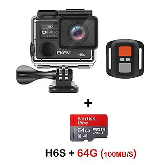 Action kamera, Ultra Hd, Wifi Eis elektronisk billedstabilisering, Go Vandtæt