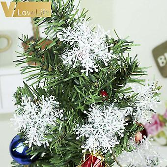 Christmas Tree Decor Snowflake White Christmas Tree Fur Skirt